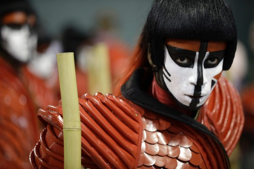 A performer from the Imperio Serrano samba school parades during Carnival celebrations at the Sambadrome in Rio de ...