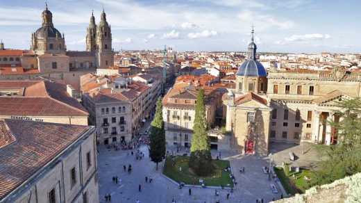 """Salamanca is home to Spain's oldest university. and because of its honey-coloured sandstone, it is known as """"The Golden ..."""