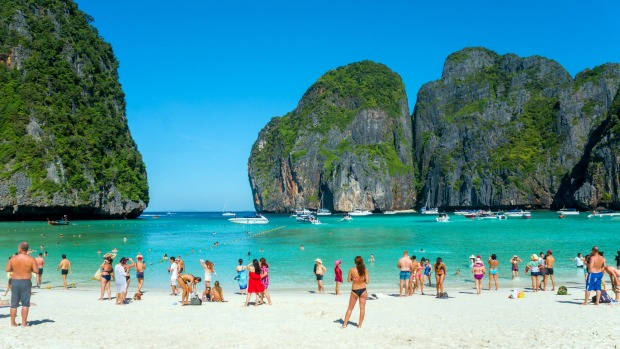 Maya Bay, on Phi Phi Leh island in the Andaman Sea, was closed for four months on June 1 in a bid to salvage the area's ...