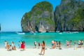 Maya Bay, Thailand. Authorities will ban boats from landing at the beach due to environmental damage to the famous spot.