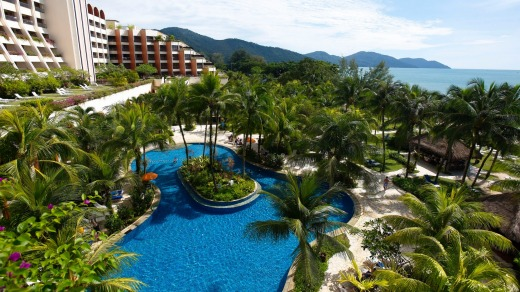 Right on the beach: PARKROYAL Penang Resort.