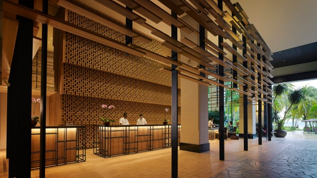 The lobby at PARKROYAL Penang Resort.