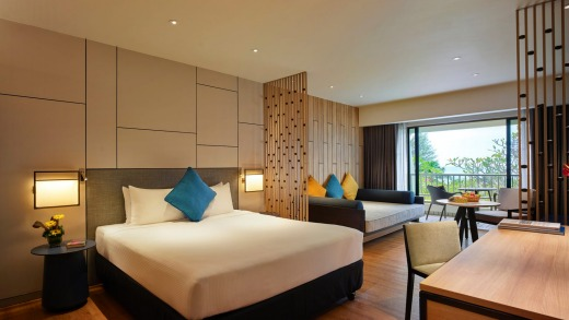 A room at PARKROYAL Penang Resort. There are 308 rooms across 10 room categories, ranging from superior rooms at entry ...