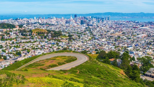 San Francisco Twin Peaks, California.