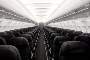 An economy cabin on an Air New Zealand Airbus A320.