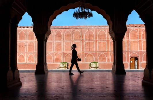 CITY PALACE: The maharaja's digs take up a sixth of Jaipur's pink-washed old town in a series of courtyards encrusted ...