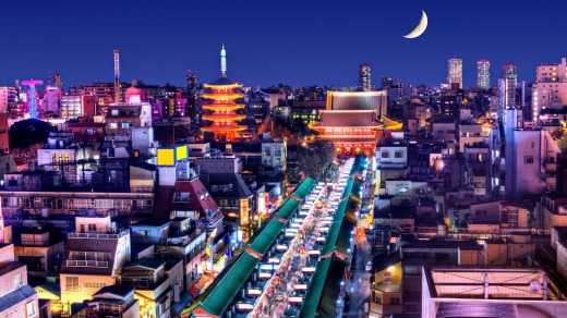 The Asakusa District in Tokyo.