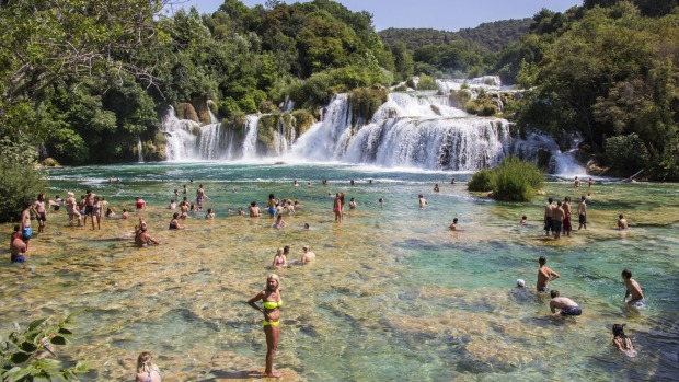 Krka National Park, one of the most famous national parks in Croatia.