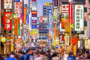 Tokyo's Shinjuku district is one of the city's nightlife hubs.