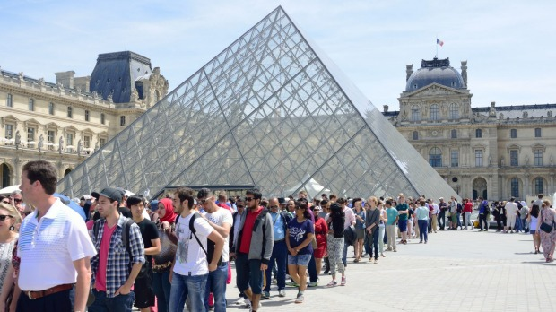 A record 10.2 million people visted the Louvre museum in Paris last year.