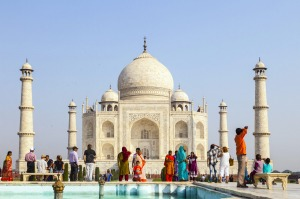 The Taj Mahal in Agra, India, is one of the most recognisable structures in the world