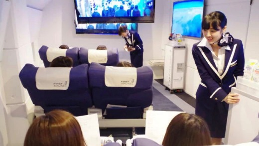 Passengers on a First Airlines flight can expect the full on-board experience, complete with in-flight service.