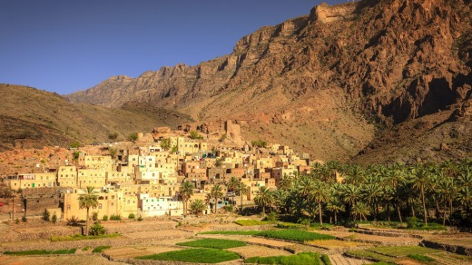 The village of Bilad Sayt in the Al Hajar Mountains.