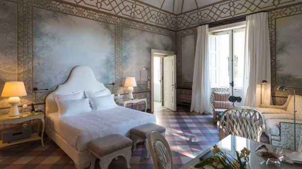 A suite at the Palazzo Margherita.