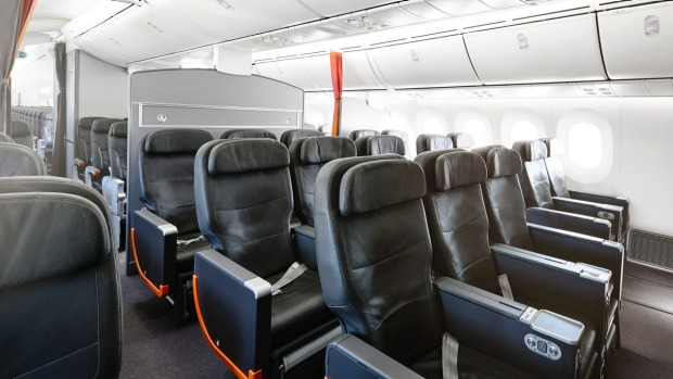 There are no lie-flat seats in Jetstar's business class.