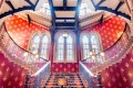 Central staircase of the St Pancras Renaissance London Hotel.