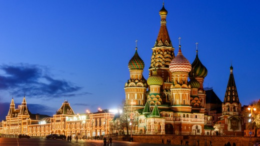St. Basil's Cathedral in Moscow.