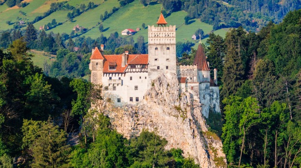 The medieval Bran Castle in Transylvania,  known for the myth of Dracula.