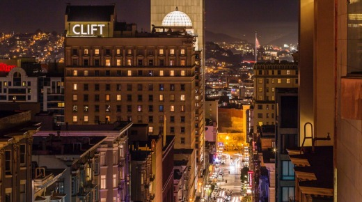 The Clift Hotel is in the heart of San Francisco.