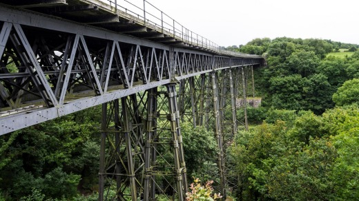 The Meldon Viaduct on the Granite Way Near Okehampton, Dartmoor, Devon.