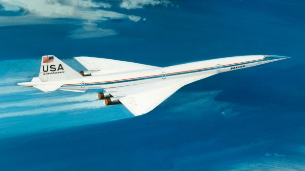 An artist's impression of the Boeing 2707 supersonic jet.