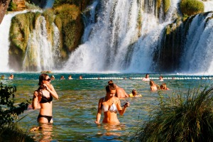 The waterfalls at Krka National Park.