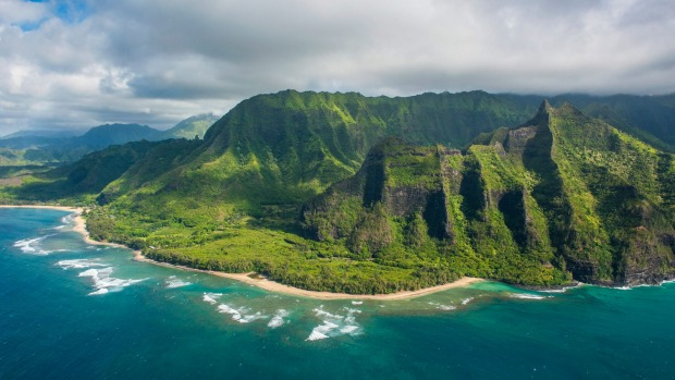 The Napali coast, Kauai.