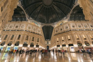 The Galleria Vittorio Emanuele II shopping centre.