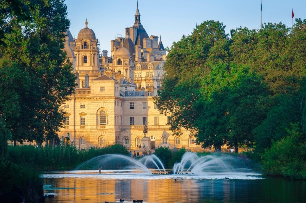 ST JAMES'S PARK: This compact but ornate park, whose lakes are a-squawk with water birds, was designed to resemble a ...