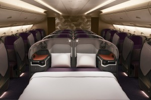 Singapore Airlines' new A380 seats.