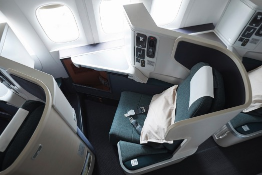 No.8 - Cathay Pacific. Pictured: Business class on board the Airbus A330.