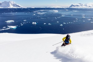 The terrain for ski touring is virtually unlimited in Antarctica.