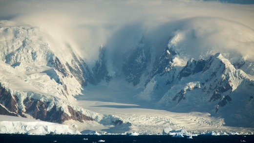 The Antarctic landscape.