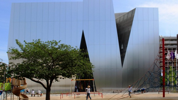 The Kazuyo Sejima-designed Sumida Hokusai Museum which is located in central Tokyo.
