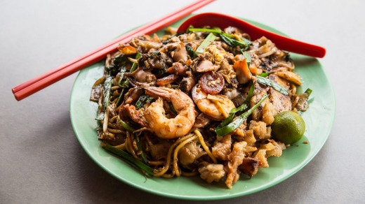 Fried kway teow.