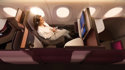 The closest business class gets to first.