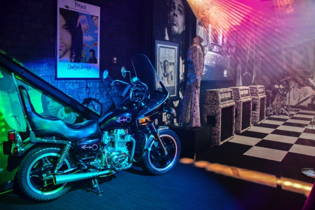 A big fan of motorcycles, Prince had many custom bikes at his home including the famous one from Purple Rain.