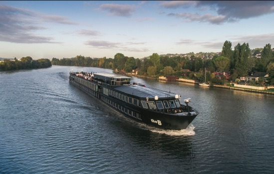 The B river cruise ship from U by Uniworld. The ship has been designed for younger travellers.