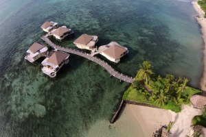 Over-water fales in Samoa.