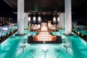 The pool bar at FV by Peppers.