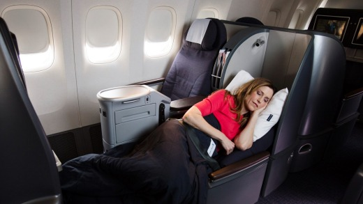 Polaris Business Class Cabin Aboard United Airlines