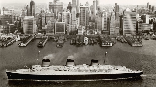 The Normandie, launched in 1935, was the most powerful steam turbo-electric-propelled passenger ship ever built.