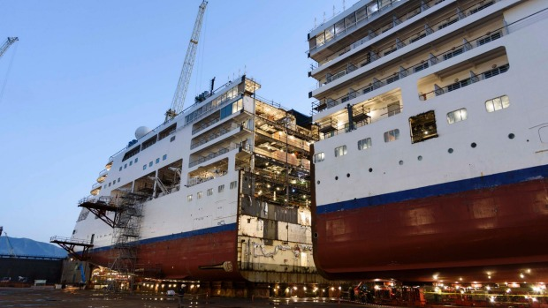 Silversea's Silver Spirit undergoes a world-first lengthening project.