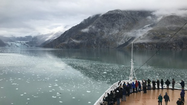 Cruising Alaska's coast on Holland America.