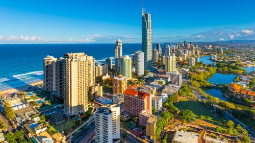 View over Surfers Paradise.
