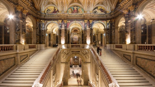 The Kunsthistorisches Museum in Vienna, Austria.