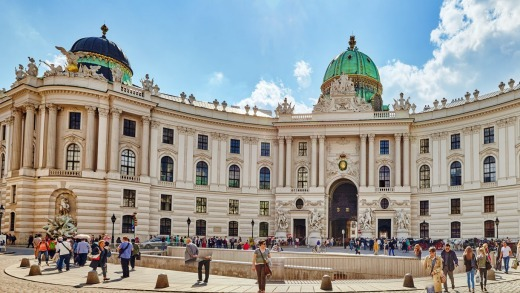 Hofburg Palace in Vienna.