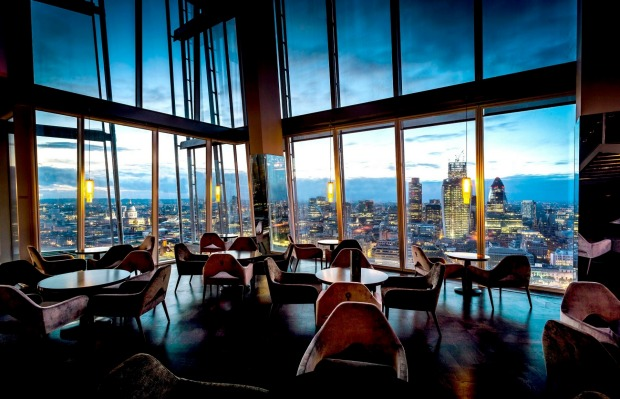 10. LONDON, ENGLAND: British weather being what it is, you take your chances of seeing anything from Aqua Shard, perched ...