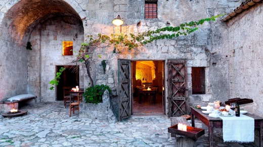 Basilicata Sextantio Le Grotte della Civita is an 18-room hotel created from old caves.