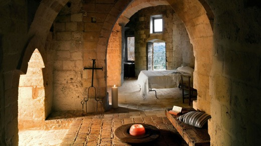 Basilicata Sextantio Le Grotte della Civita, an 18-room hotel created from old caves.